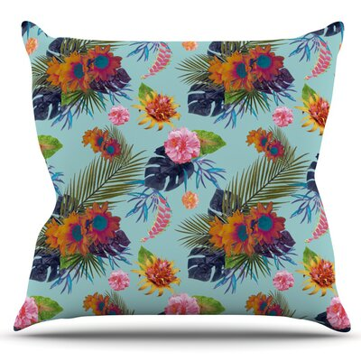 Tropical Floral by Nika Martinez Outdoor Throw Pillow