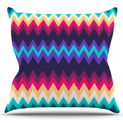 Surf Chevron by Nika Martinez Outdoor Throw Pillow