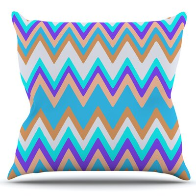 Girly Surf Chevron by Nika Martinez Outdoor Throw Pillow