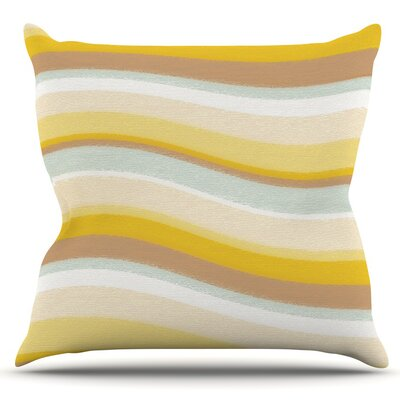 Desert Waves by Nika Martinez Outdoor Throw Pillow