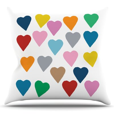Hearts by Project M Outdoor Throw Pillow