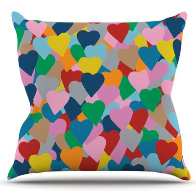 More Hearts by Project M Outdoor Throw Pillow