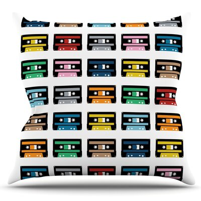 Rainbow Tapes by Project M Outdoor Throw Pillow
