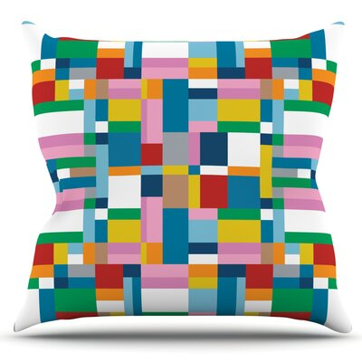 Map by Project M Outdoor Throw Pillow