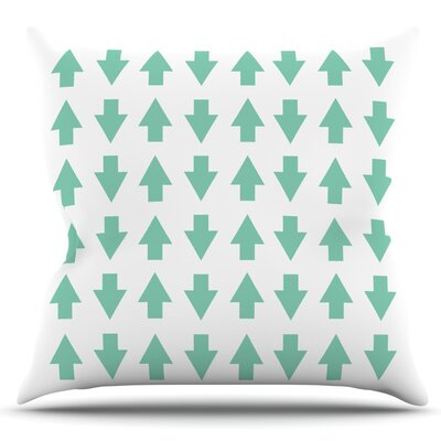 Arrows Up and Down by Project M Outdoor Throw Pillow