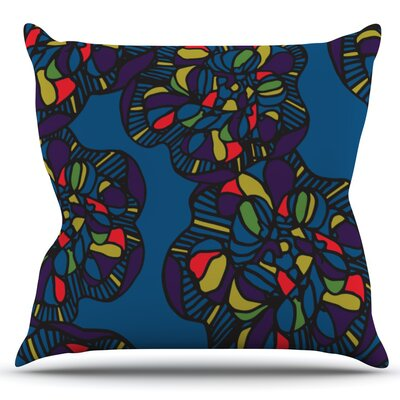 Mushroom Flower by Sonal Nathwani Outdoor Throw Pillow