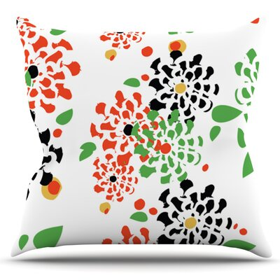 Multi Bouquet by Sonal Nathwani Outdoor Throw Pillow