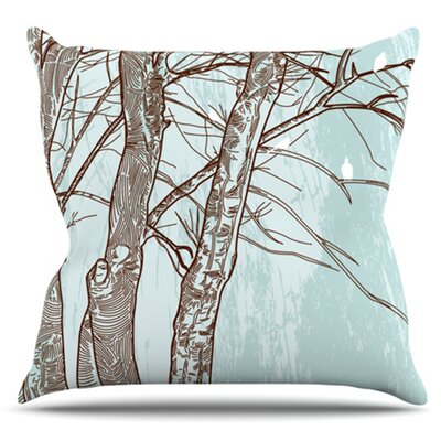 Winter Trees by Sam Posnick Outdoor Throw Pillow