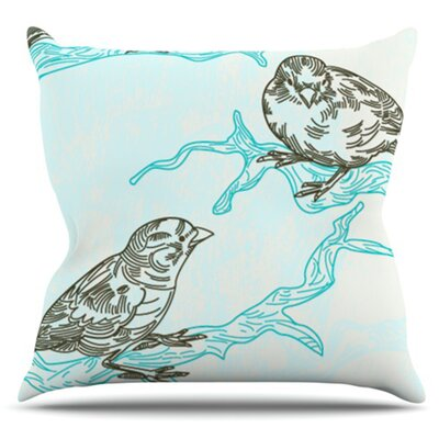 Birds in Trees by Sam Posnick Outdoor Throw Pillow