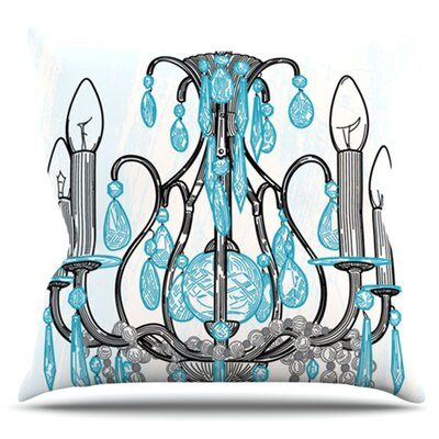 Chandelier by Sam Posnick Outdoor Throw Pillow