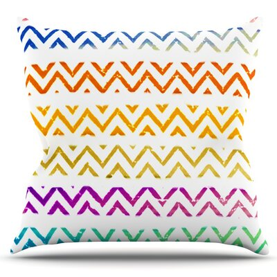 Chevron Add by Sreetama Ray Outdoor Throw Pillow