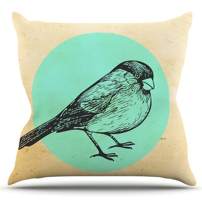 Old Paper Bird by Sreetama Ray Outdoor Throw Pillow