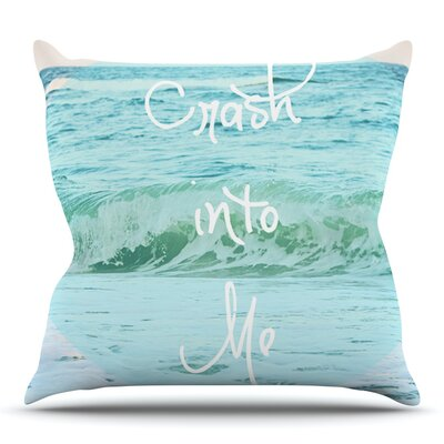 Crash Into Me by Beth Engel Outdoor Throw Pillow
