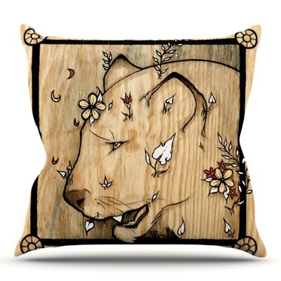 Panther by Jennie Penny Outdoor Throw Pillow