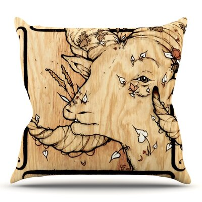 Ram by Jennie Penny Outdoor Throw Pillow