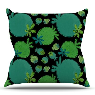 Garden Pods by Jane Smith Outdoor Throw Pillow