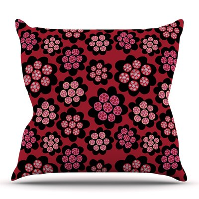 Garden Pods Repeat by Jane Smith Outdoor Throw Pillow