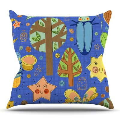 Lightning Bug by Jane Smith Outdoor Throw Pillow