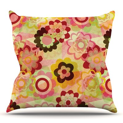 Colorful Mix by Louise Machado Outdoor Throw Pillow