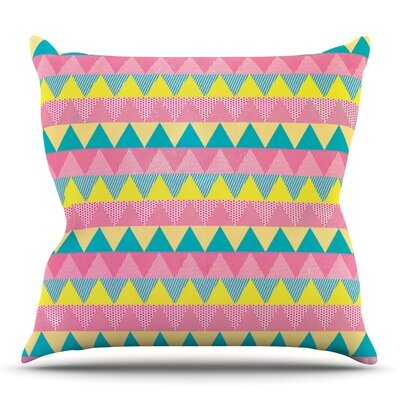 Triangles by Louise Machado Outdoor Throw Pillow