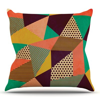 Geometric Love II by Louise Machado Outdoor Throw Pillow