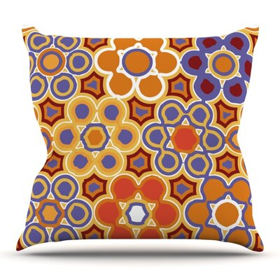 Flower Garden by Laura Nicholson Outdoor Throw Pillow