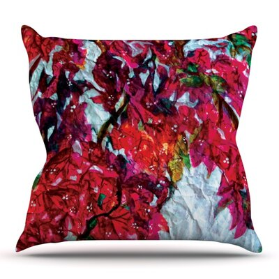 Bougainvillea by Mary Bateman Outdoor Throw Pillow