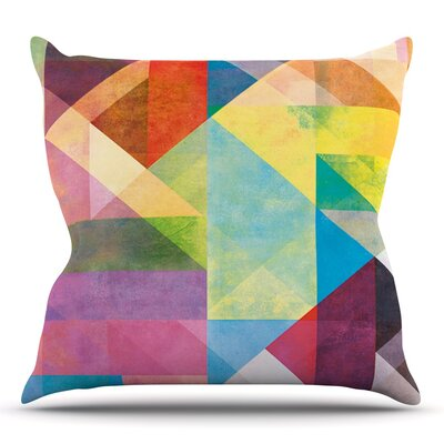 Color Blocking II by Mareike Boehmer Outdoor Throw Pillow