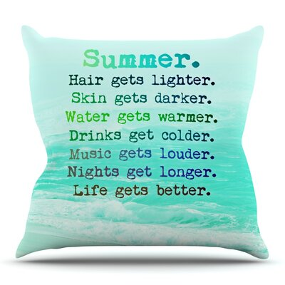 Summer XXL by Monika Strigel Outdoor Throw Pillow
