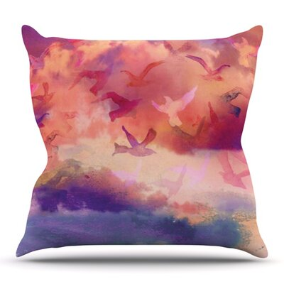 Souffle Sky by Nikki Strange Outdoor Throw Pillow