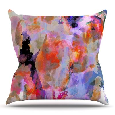 Painterly Blush by Nikki Strange Outdoor Throw Pillow