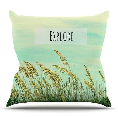 Explore by Robin Dickinson Outdoor Throw Pillow