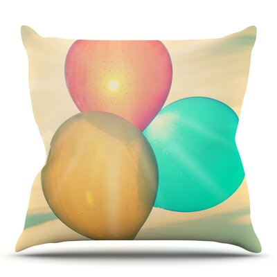 Balloons by Robin Dickinson Outdoor Throw Pillow