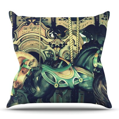 Carousel by Robin Dickinson Outdoor Throw Pillow