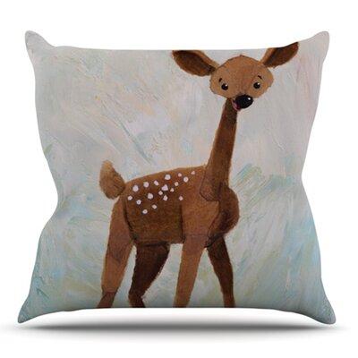 Oh Deer by Rachel Kokko Outdoor Throw Pillow