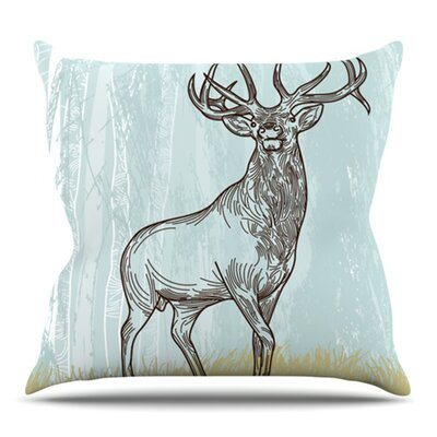Elk Scene by Sam Posnick Outdoor Throw Pillow