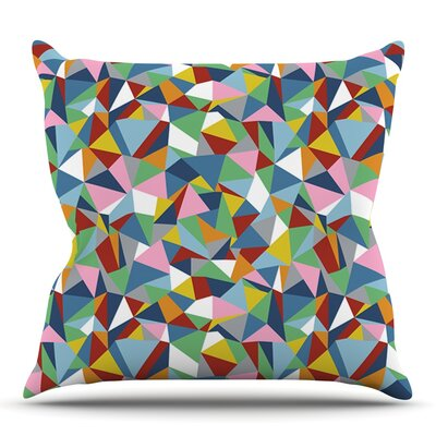 Abstraction by Project M Outdoor Throw Pillow Color: Blue