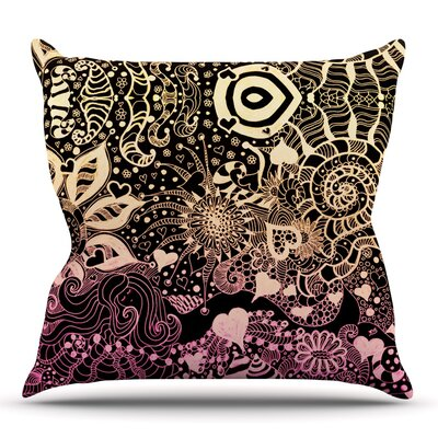 Neptunes Garden by Monika Strigel Outdoor Throw Pillow Color: Yellow/Pink