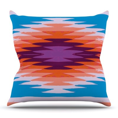 Surf Lovin Hawaii by Nika Martinez Outdoor Throw Pillow Color: Pink/Blue