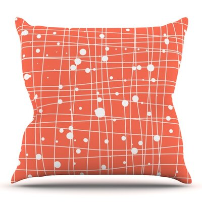 Woven Web by Budi Kwan Outdoor Throw Pillow Color: Black