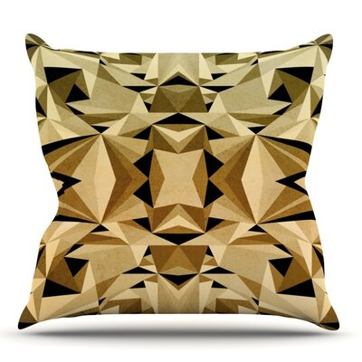 Abstraction by Nika Martinez Outdoor Throw Pillow Color: Gold/Black