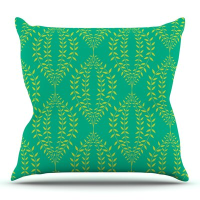 Laurel Leaf by Anneline Sophia Outdoor Throw Pillow Color: Orange