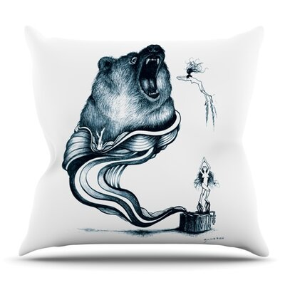 Hot Tub Hunter by Graham Curran Outdoor Throw Pillow Color: Blue