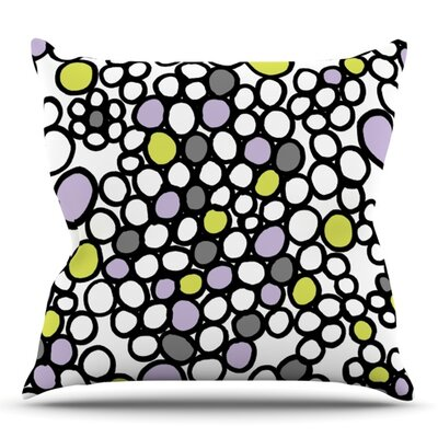 Pebbles by Emine Ortega Outdoor Throw Pillow Color: Lilac