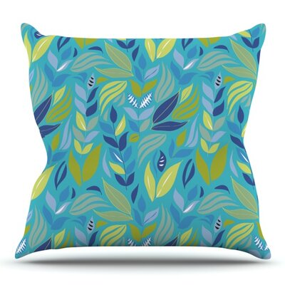 Underwater Bouquet by Michelle Drew Outdoor Throw Pillow Color: Black