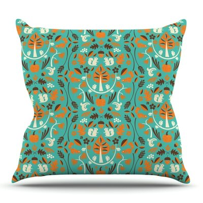Autumn Harvest by Allison Beilke Outdoor Throw Pillow