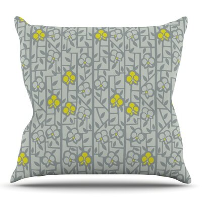 Deco Orchids by Allison Beilke Outdoor Throw Pillow