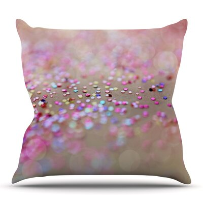 Princess Confetti by Beth Engel Outdoor Throw Pillow