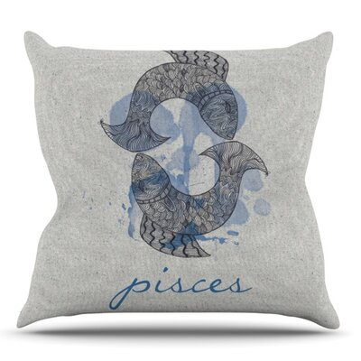 Pisces by Belinda Gillies Outdoor Throw Pillow