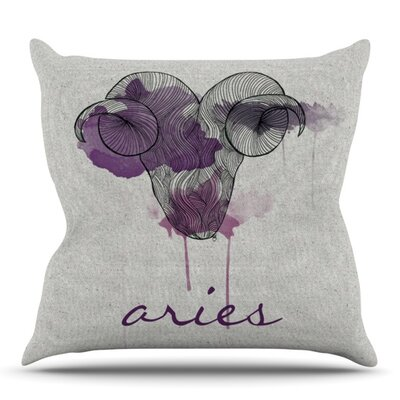Aries by Belinda Gillies Outdoor Throw Pillow